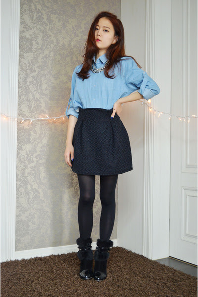 box pleat skirt q2han skirts denim shirt banggood shirts