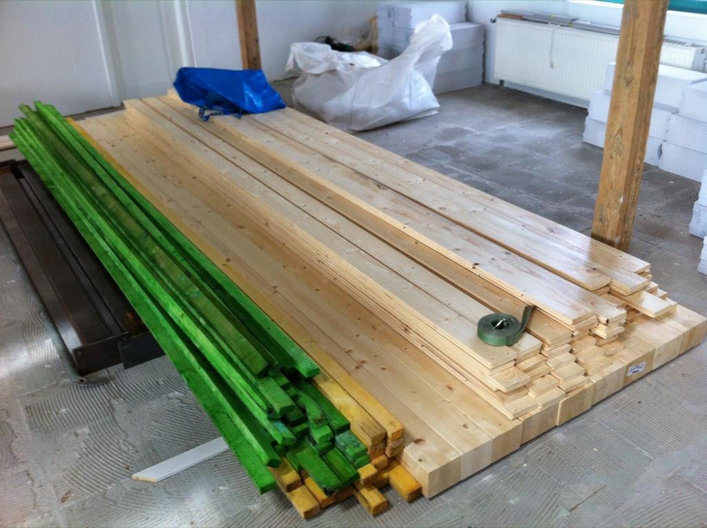 Holz in der Hütten