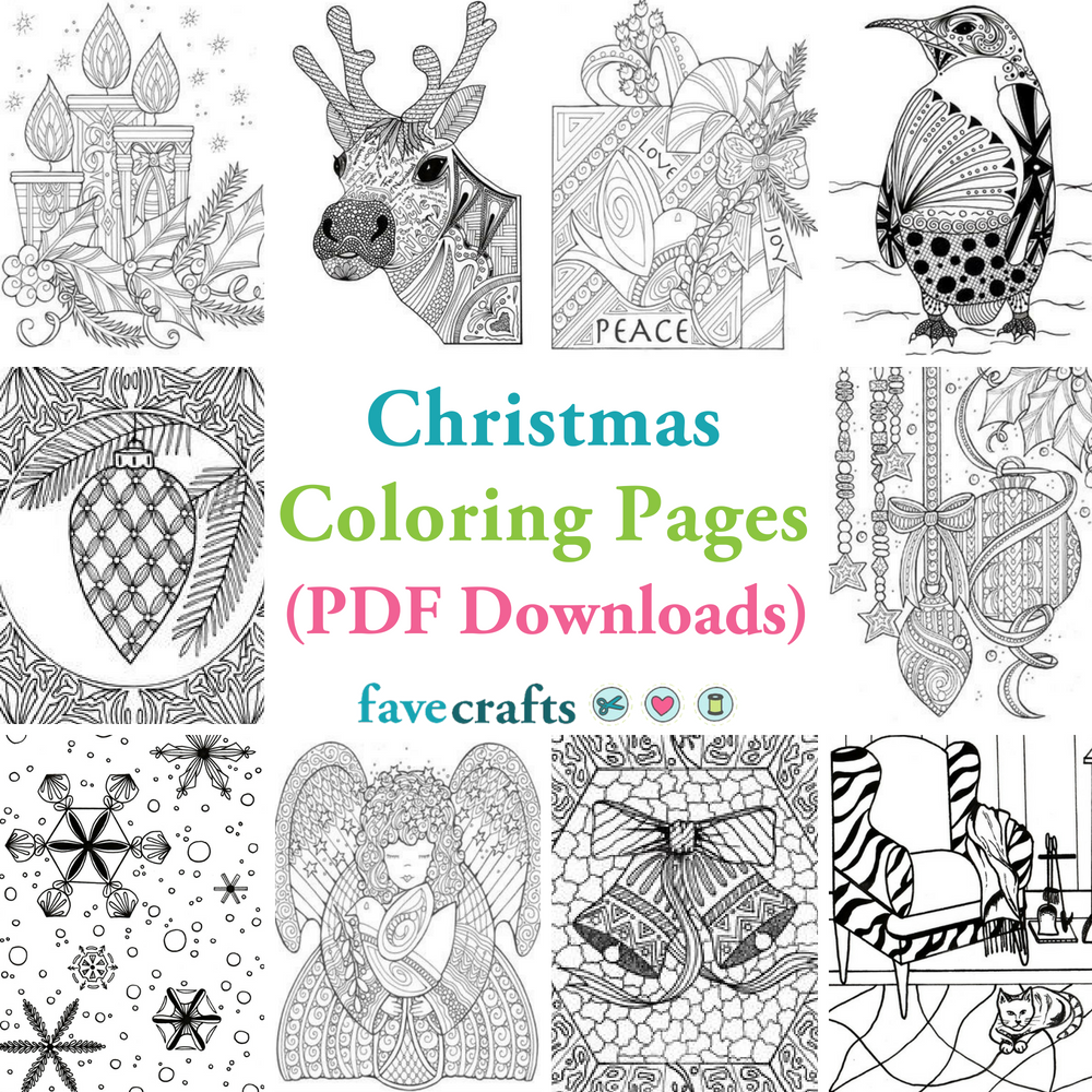 29 Christmas Coloring Pages (Free PDFs) | FaveCrafts.com