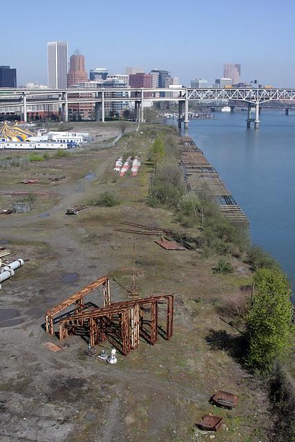 view from ross island bridge
