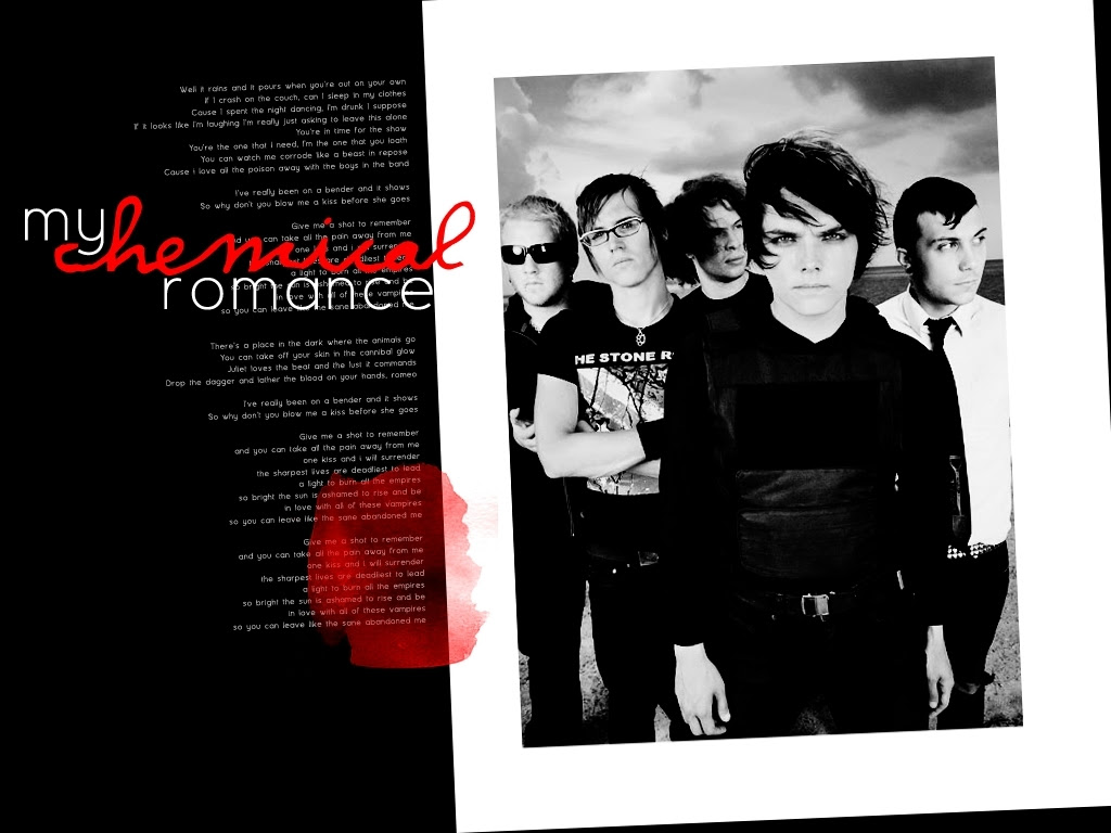 Mcr In Red Black Wallpaper My Chemical Romance Wallpaper