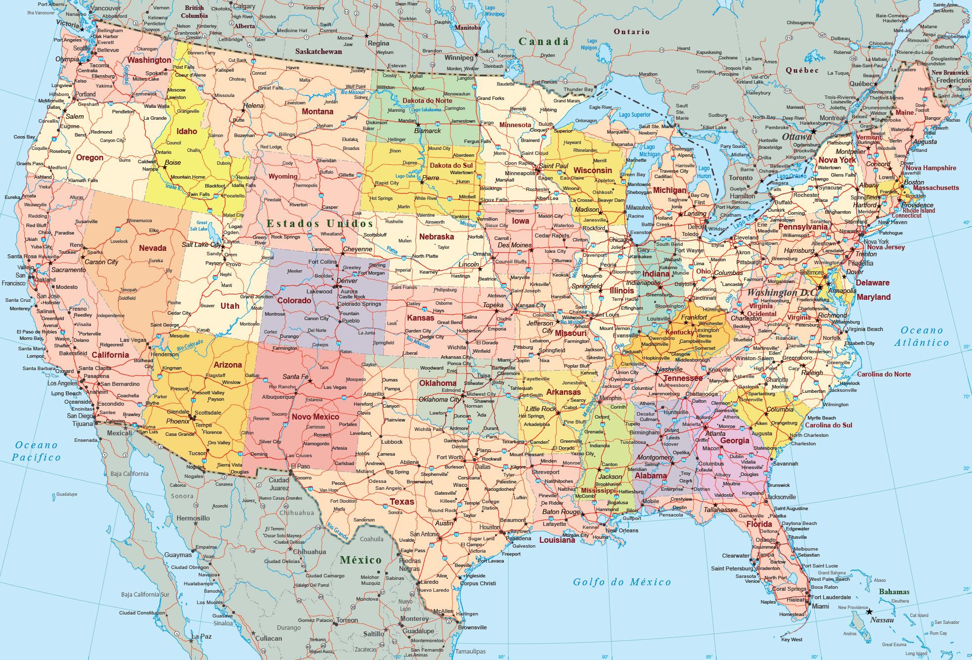 mapa politico de miami florida