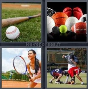 Solution 4 Images 1 Mot Batte De Baseball Raquette De Tennis