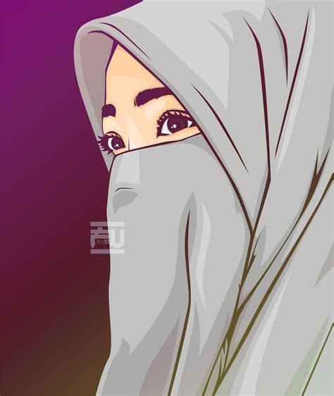 niqab hijab vector ahmadfu painting  desene