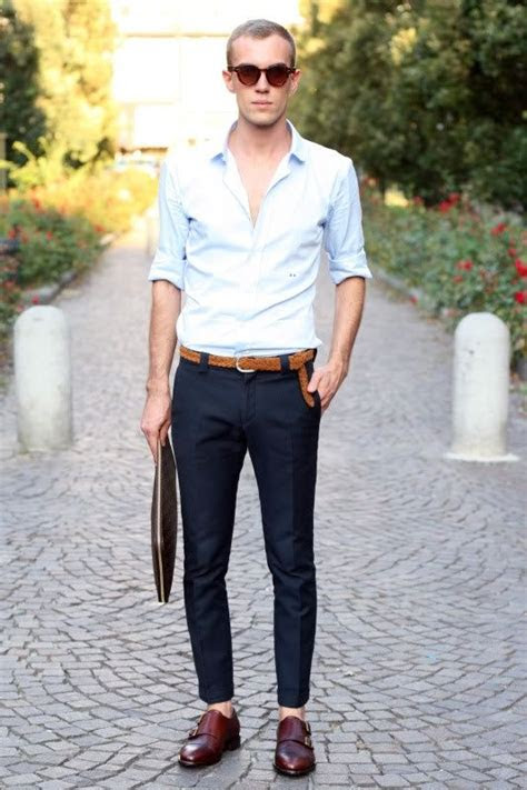 mens outfit ideas  wear  monk strap shoes