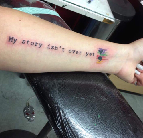 Tattoo Inspiration 2017 My Story Isnt Over Yet Submission By