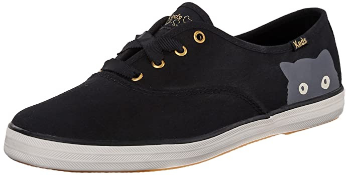 Keds Women's Taylor Swift Sneaky Cat Fashion Sneaker, Black, 8 M US