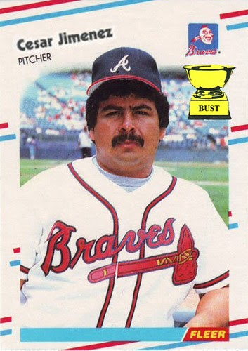 "Baseball Card Bust: German ""Cesar"" Jimenez, 1988 Fleer and"