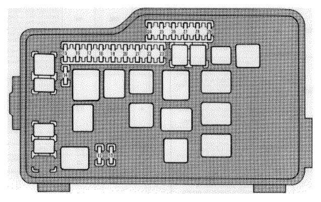 Lexus GS300 (1996 - 1997) - fuse box diagram - Auto Genius