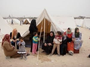 Women from Izbit Abed Rabbo utilise Karama (Dignity) camp during the day