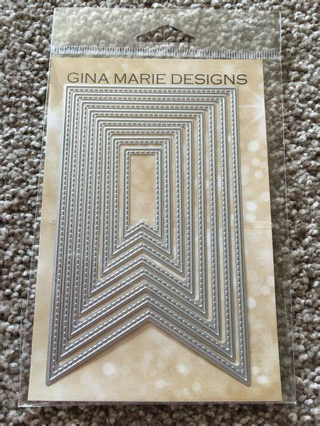 FISH TAIL BANNERS   GINA MARIE DESIGN DIES   Scrapbook