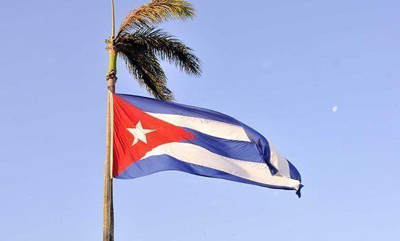 Bandera de Cuba. Foto: Jorge Luis Rivera / Cubadebate