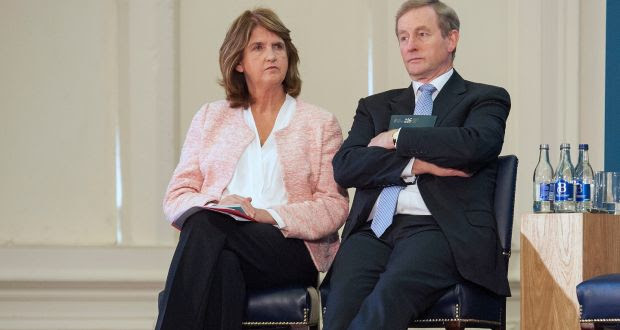 Taoiseach Enda Kenny and Tanáiste Joan Burton. Mr Kenny has admitted he should have moved more quickly to quell speculation about a November election. Photograph: The Irish Times