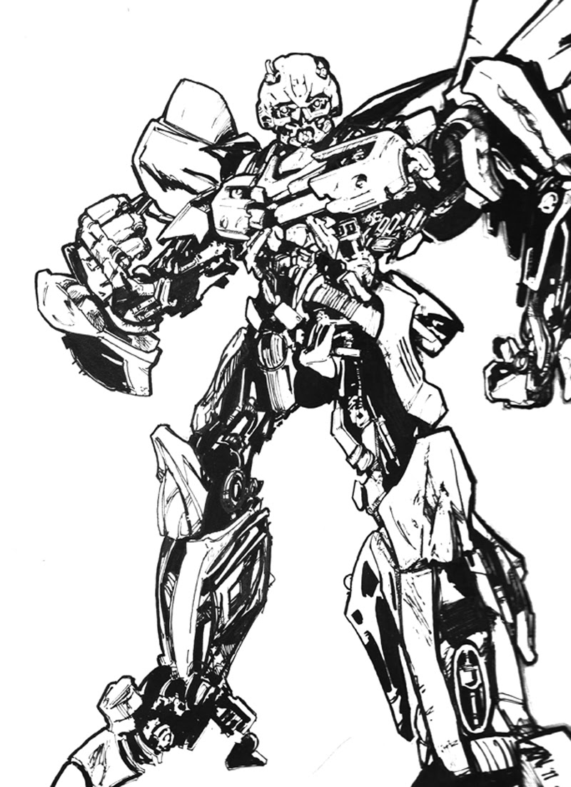 Coloring Pages Hello Kitty: Transformers Bumblebee coloring page | 1102x800
