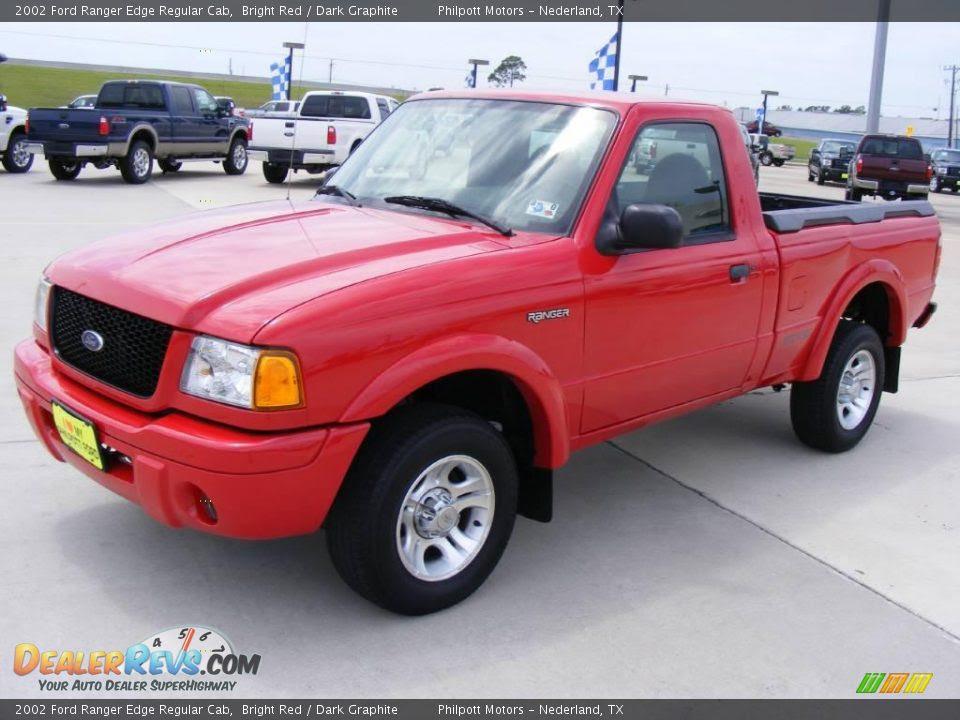 2002 Ford Ranger Edge Regular Cab Bright Red / Dark Graphite Photo #7 ...