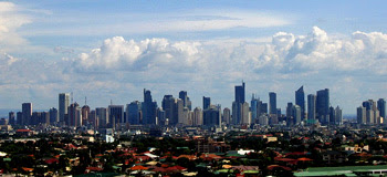 Makati skyline at noon