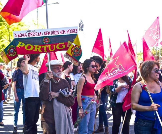 <p>Una manifestación en Lisboa contra las políticas económicas</p>