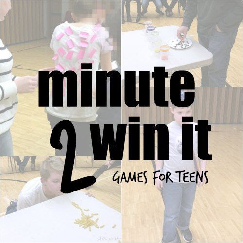 games for teens, teen birthday party, teen party, minute to win it