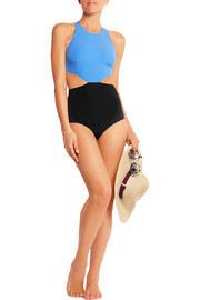 Lynn cutout two-tone swimsuit