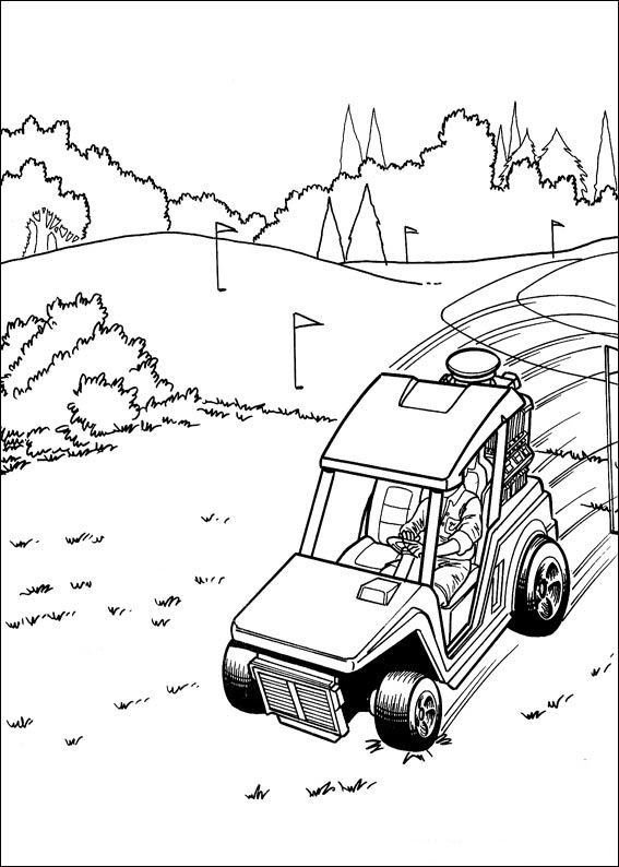Kids-n-fun.com | 41 coloring pages of Hot Wheels