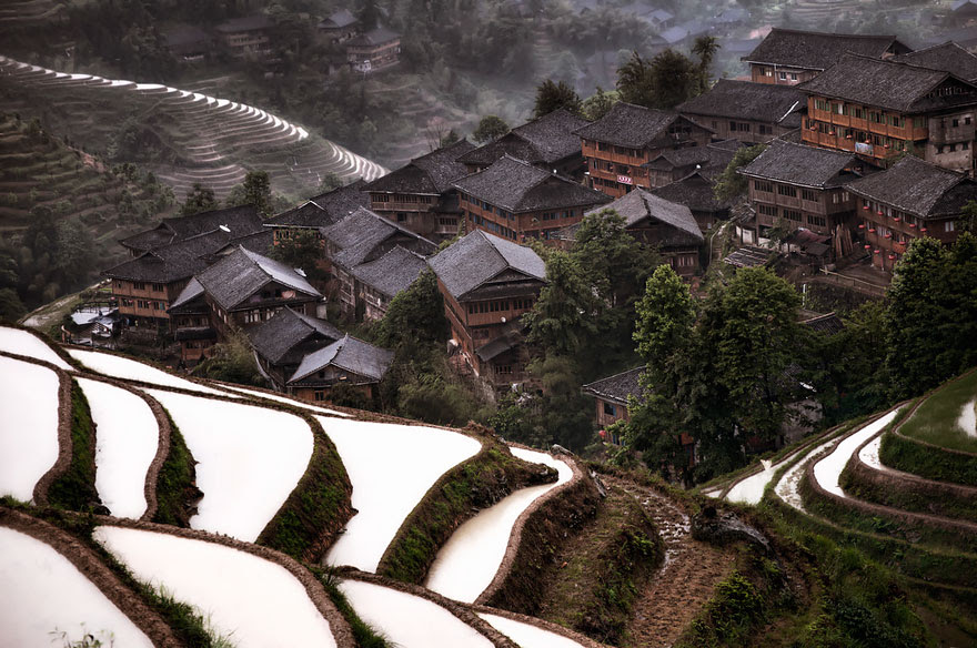Mountain Village In China