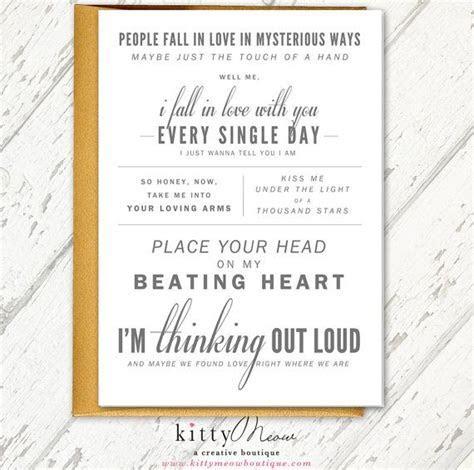 """Ed Sheeran """"Thinking Out Loud""""   Wedding Gift, Wedding"""