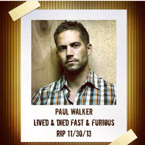 Paul Walker Lived Fast And Furious Pictures Photos And Images For