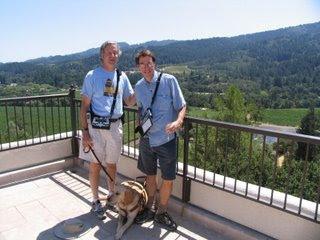 Mike May and Charles LaPierre at the Sterling winery overlooking the Napa Valley