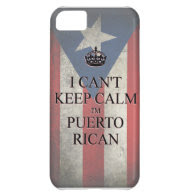 I cannot keep calm i'm puerto rican flag iPhone 5 iPhone 5C Cases