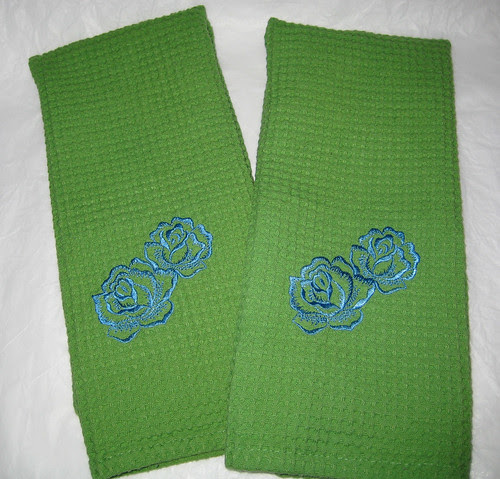 rose towels