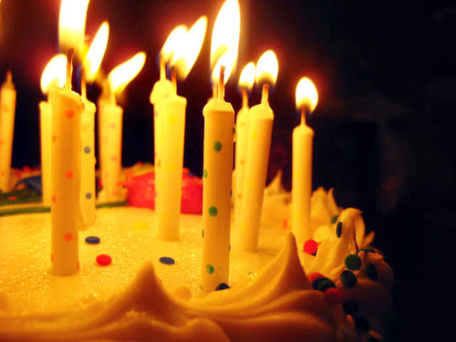 happy birthday cake candles
