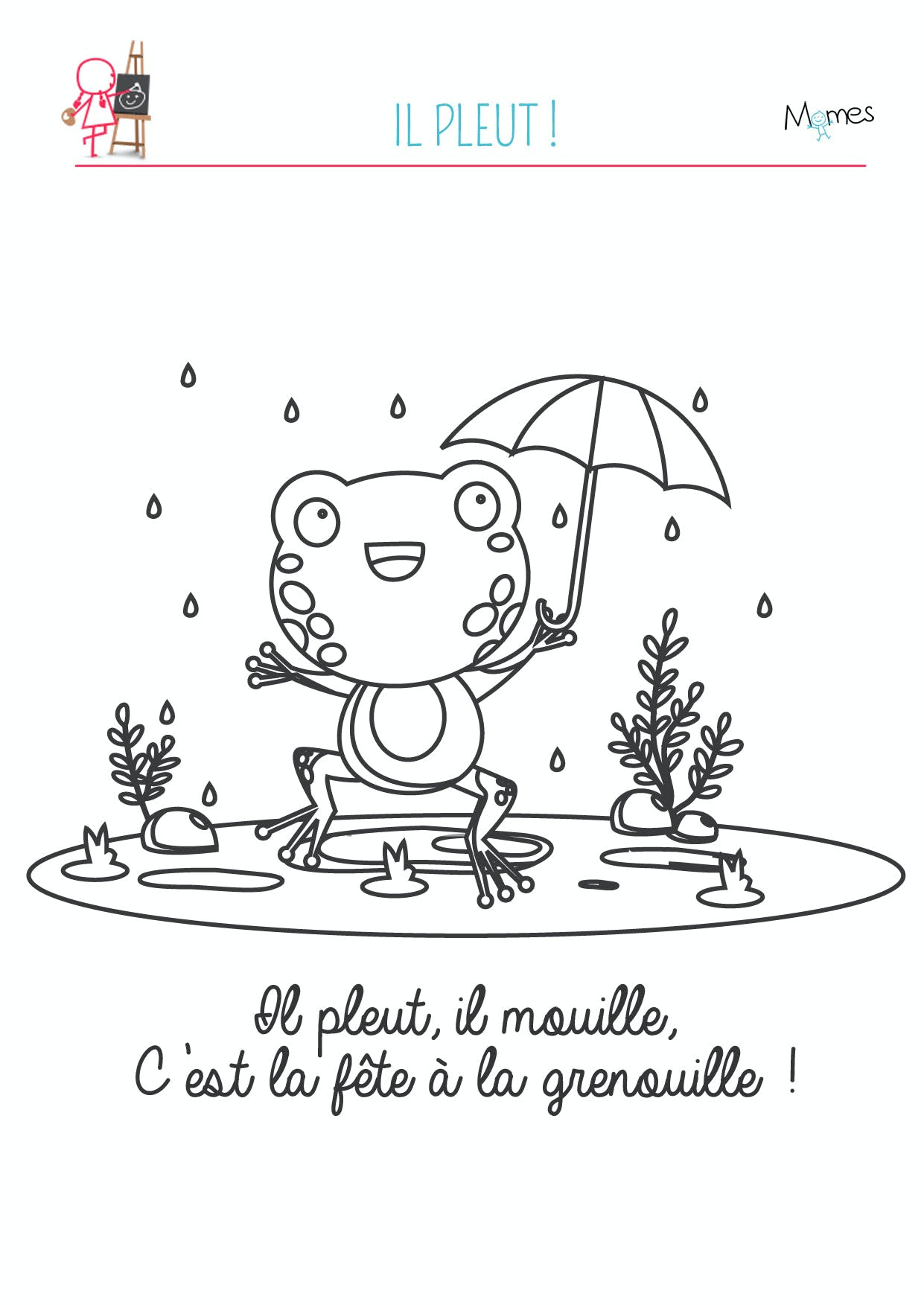 coloriage grenouille