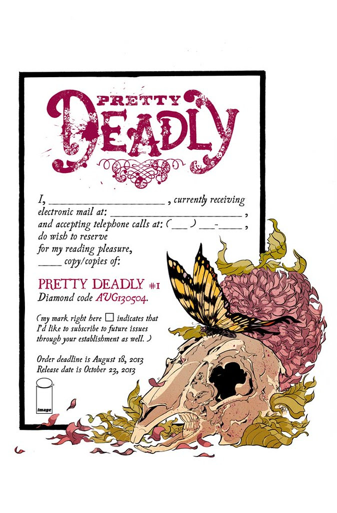Pretty Deadly #1 preorder form