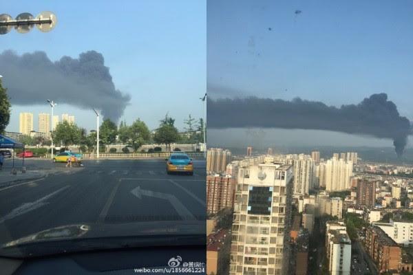 9月10日早上8时40分,湖北宜昌湖北点军紫阳塑业发生火灾,因火热猛烈,塑料燃烧快,火热一度无法控制。(网络图片)