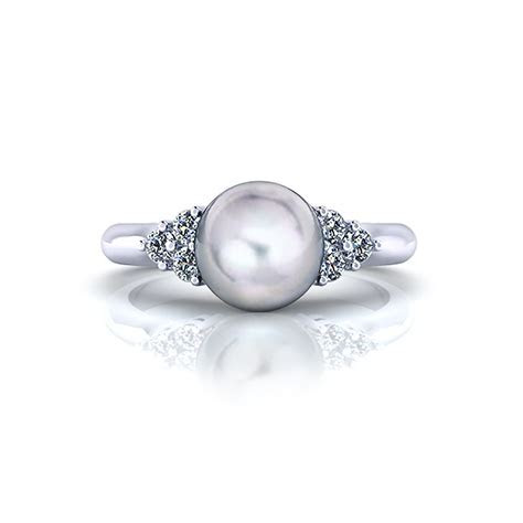 Classic Diamond Pearl Ring   Jewelry Designs