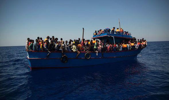 A migrant boat