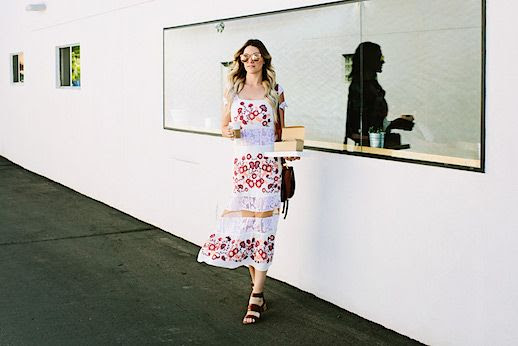 Le Fashion Blog Floral Embroidered Maxi Dress Sandals Blogger Style Via The Dash Of Darling