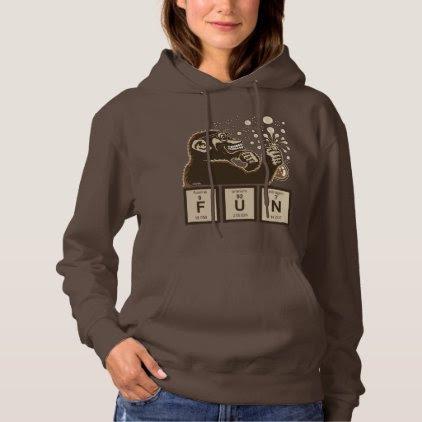 Chemistry monkey discovered fun hoodie