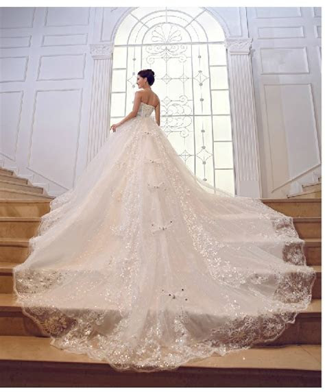 2013 sparkling rhinestone Luxury Lace Up Organza Cathedral