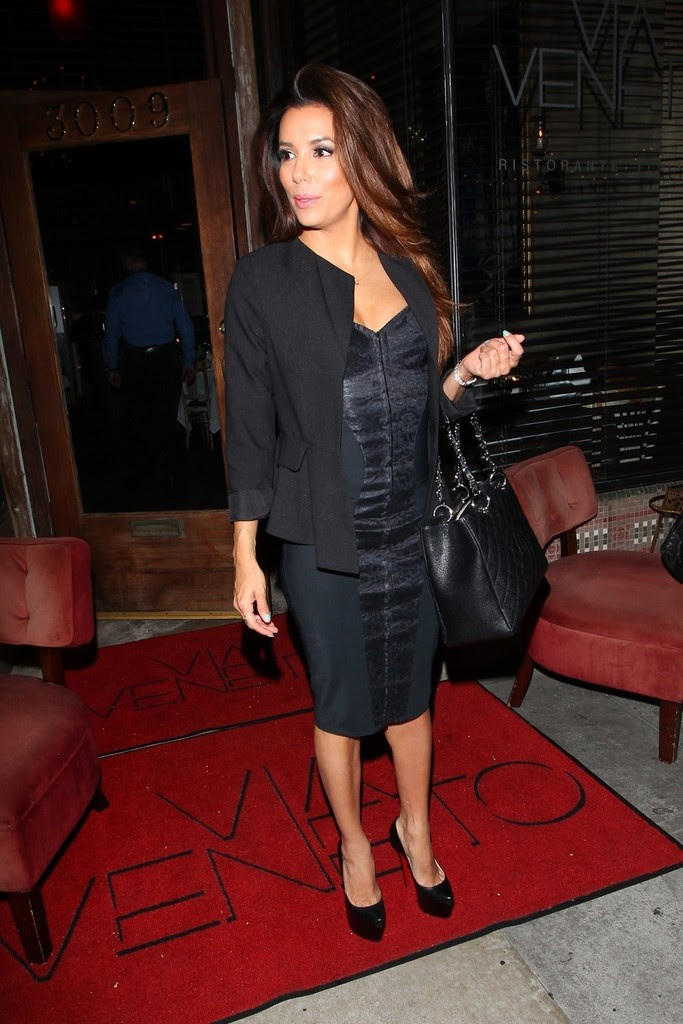 Christian Louboutin - Eva Longoria leaving Via Veneto Italian restaurant in Santa Monica