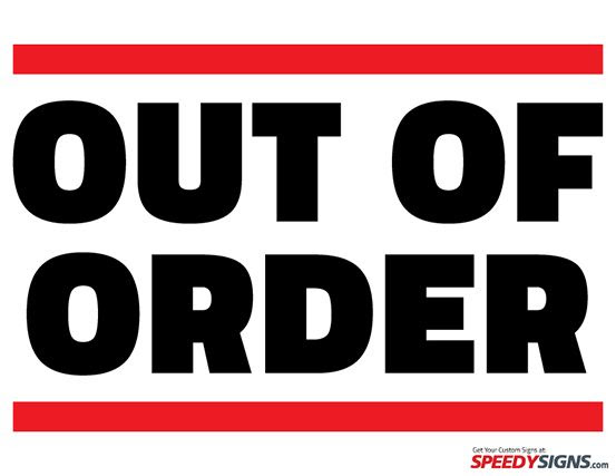 out of order sign template - Google Search | Signs | Pinterest ...