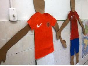 Arquétipos de jogadores também foram montados por alunos (Foto: Henrique Mendes / G1)