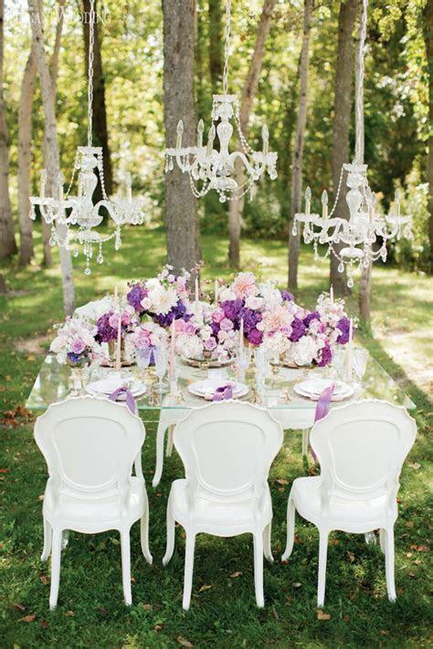 Purple & White Outdoor Fairytale Wedding   Wedding Table