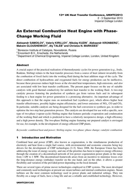 (PDF) An External Combustion Heat Engine with Phase