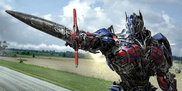 A promotional pic of Optimus Prime for 2014's TRANSFORMERS: AGE OF EXTINCTION.