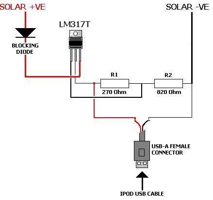 Ckt Diagram Of Solar Panel To Mobile Charger Circuit