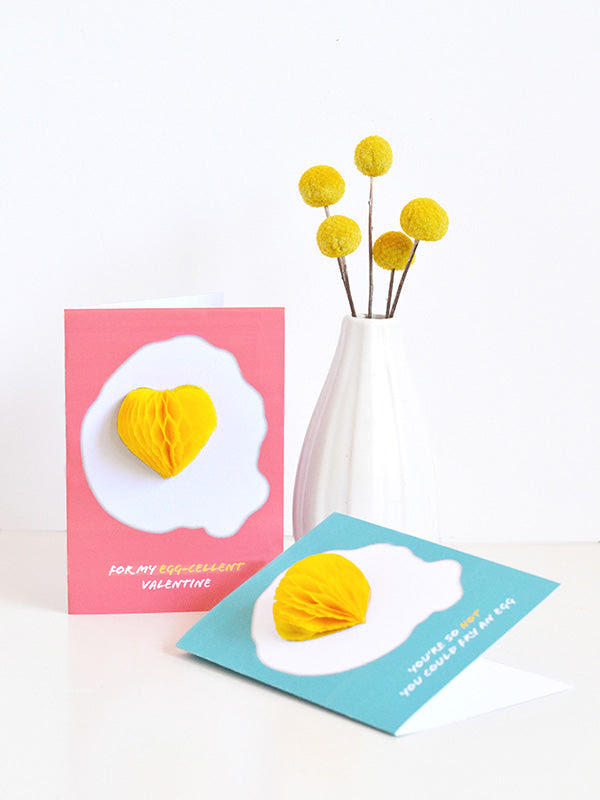 honeycomb egg valentine's day card