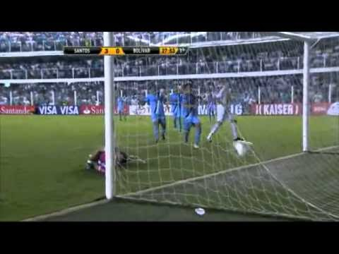 Santos vs Bolivar 8-0 Highlights Copa Libertadores 2012 Elano Neymar Kardec Ganso Goals Video