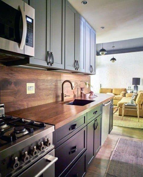 Top 60 Best Wood Backsplash Ideas - Wooden Kitchen Wall ...