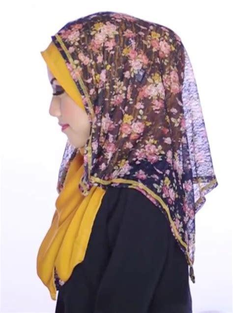 hijab tutorial pashmina  side motif tutorial pashmina